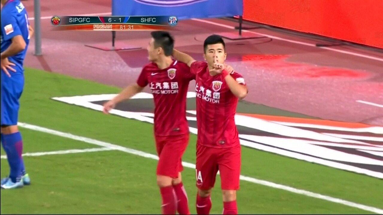 Shanghai SIPG goleia o rival Shanghai Shenhua por 6 a 1