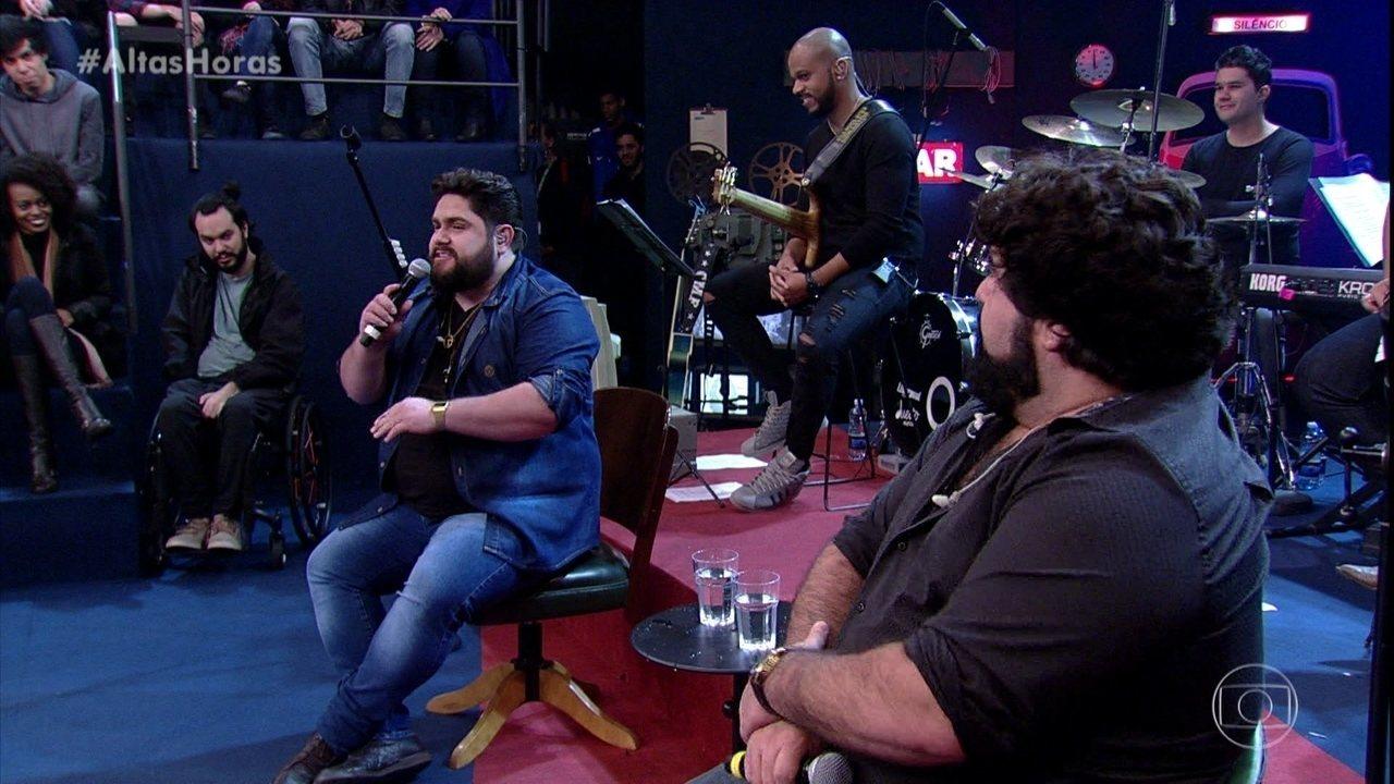 César Menotti e Fabiano contam que já fizeram show em um presidio