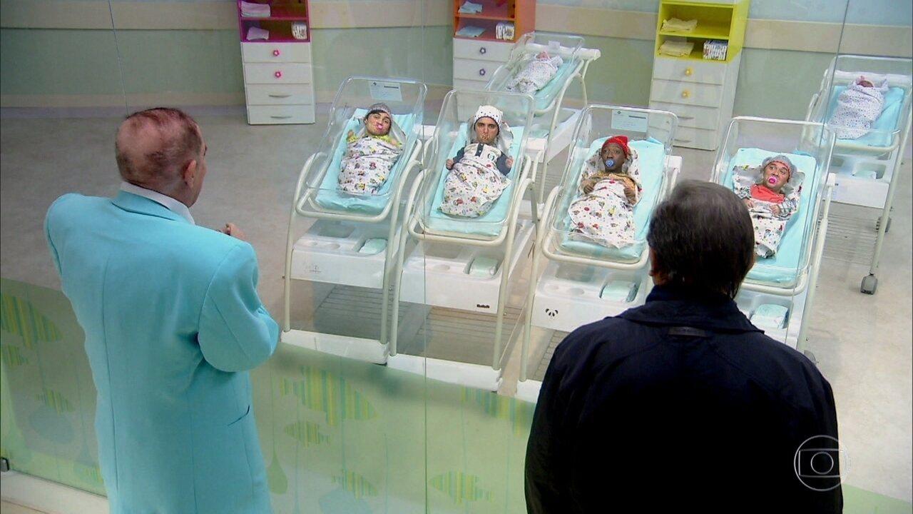 Didi escolhe os nomes dos bebês