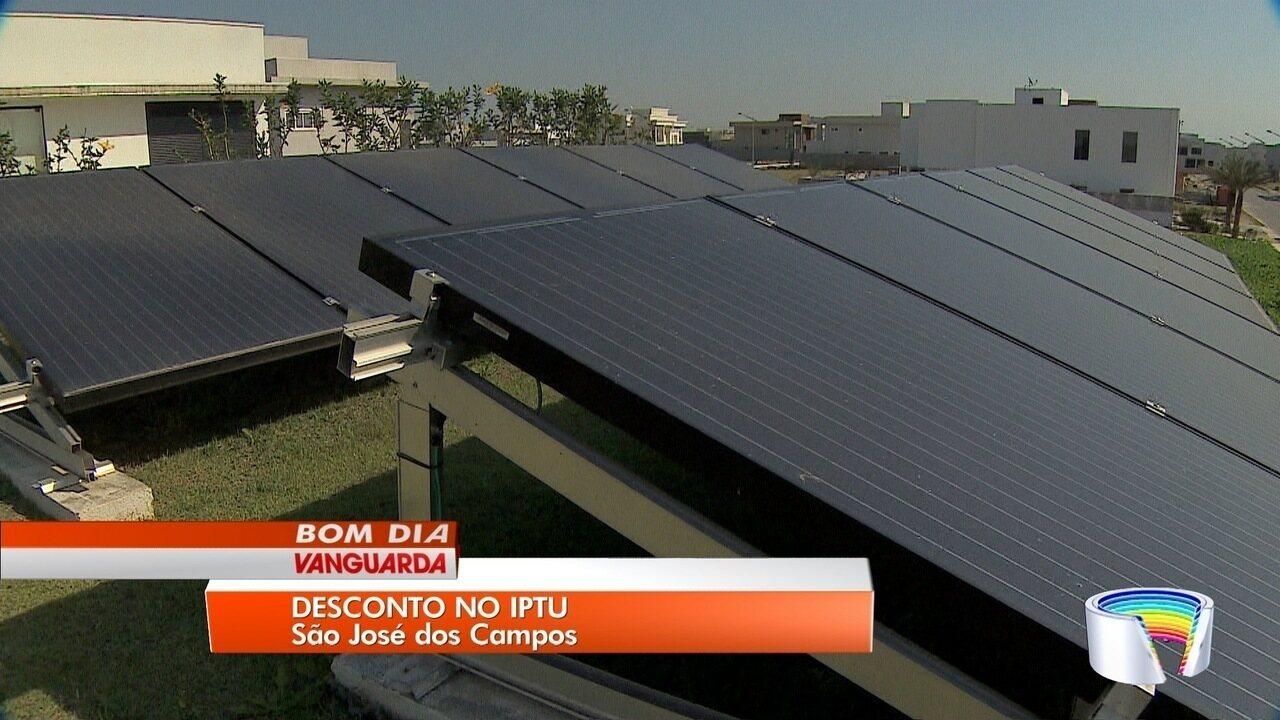 Iniciativas sustentáveis rendem desconto no IPTU a moradores de São José