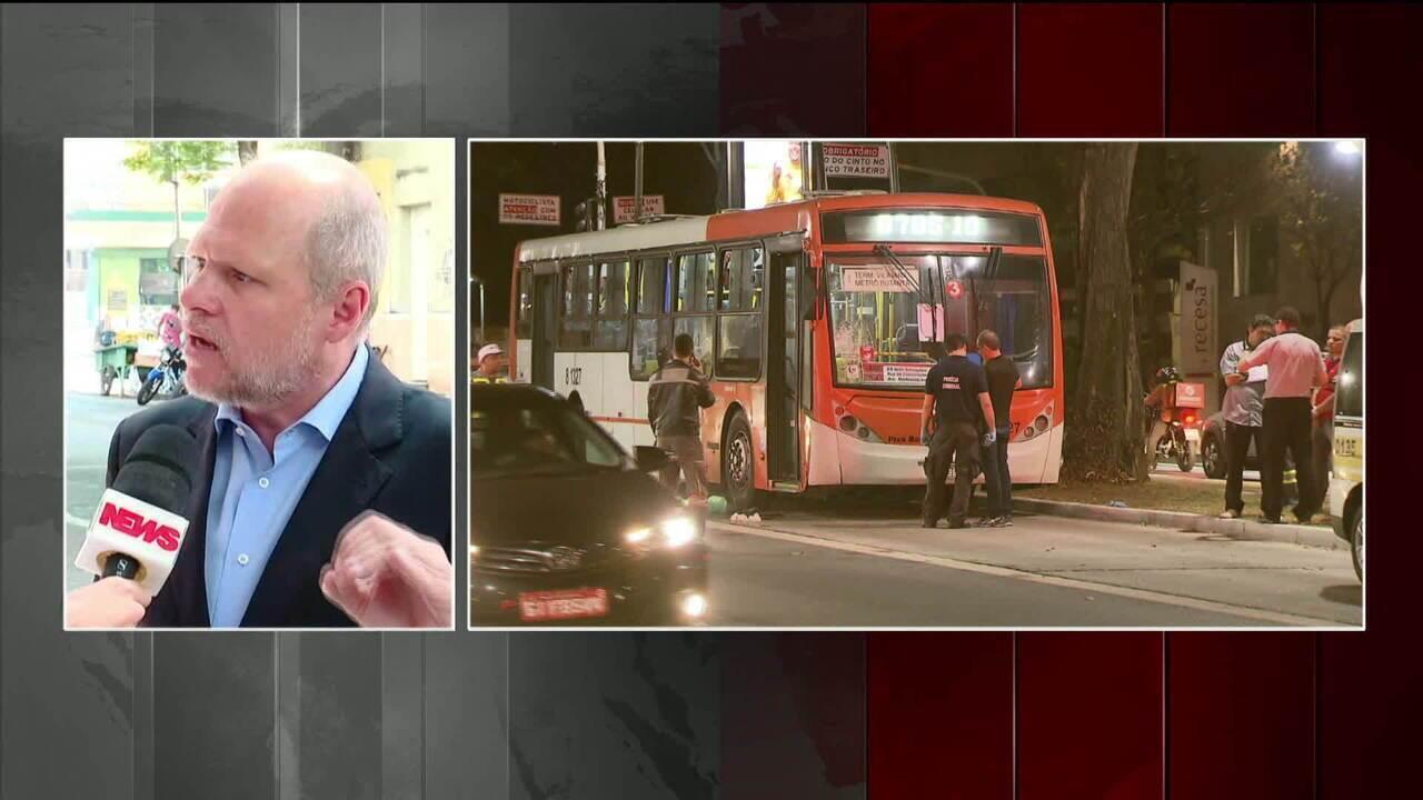 Mortes de atropelamentos de pedestres por ônibus em SP aumentaram 76%