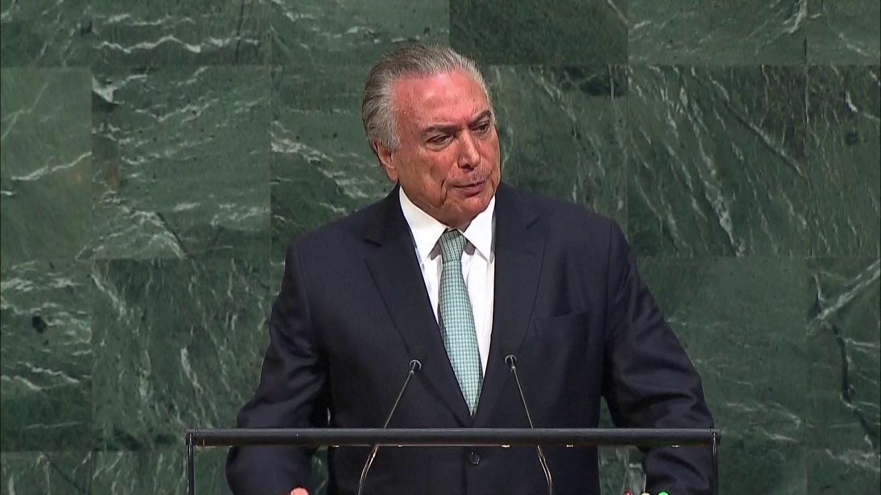"""""""É crucial reconhecer o nexo entre segurança e desenvolvimento"""", diz Temer"""