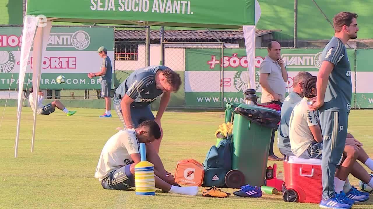 Borja se irrita e deixa treino do Palmeiras mais cedo