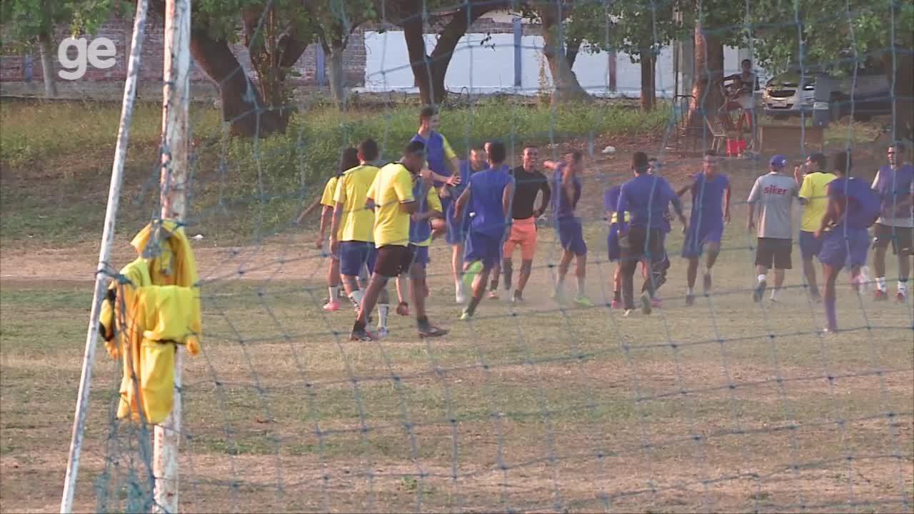 Treino do Piauí antes de jogo contra River-PI tem clima leve após troca de socos