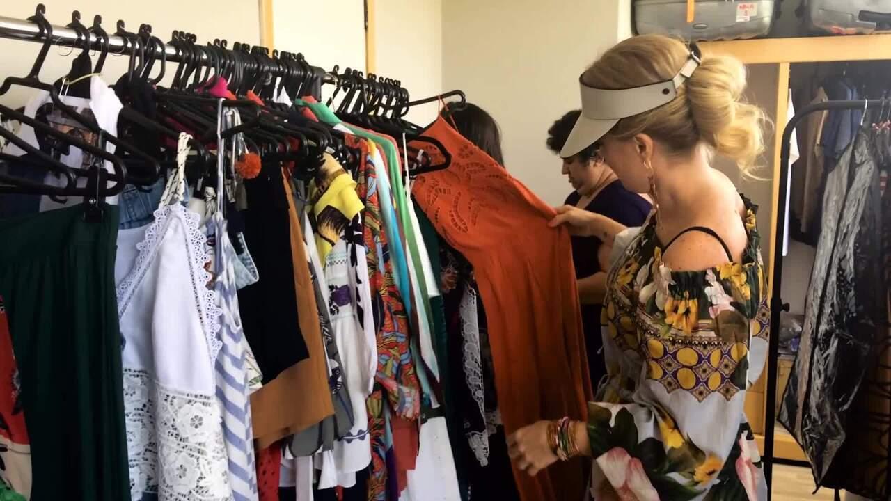 Angélica mostra camarim na gravação do Estrelas em Fortaleza