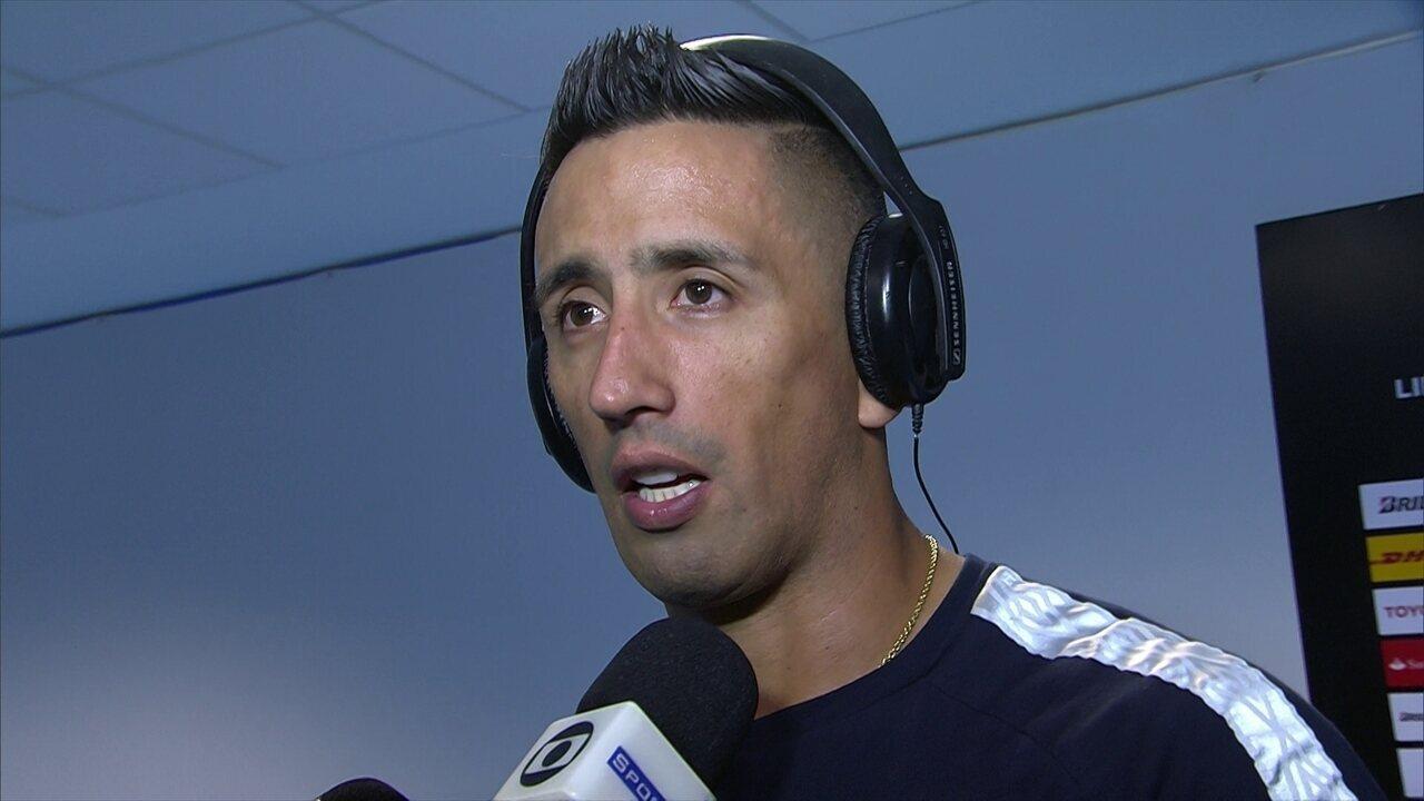 Barrios diz que já tinha tentado uma cabeçada em jogo contra o Botafogo d3108977de9d9