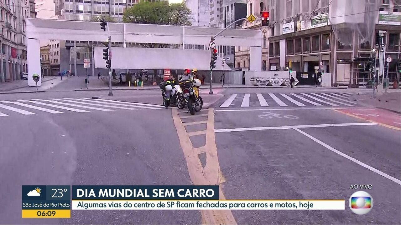 Algumas vias do Centro de SP são fechadas para carros no Dia Mundial sem Carro
