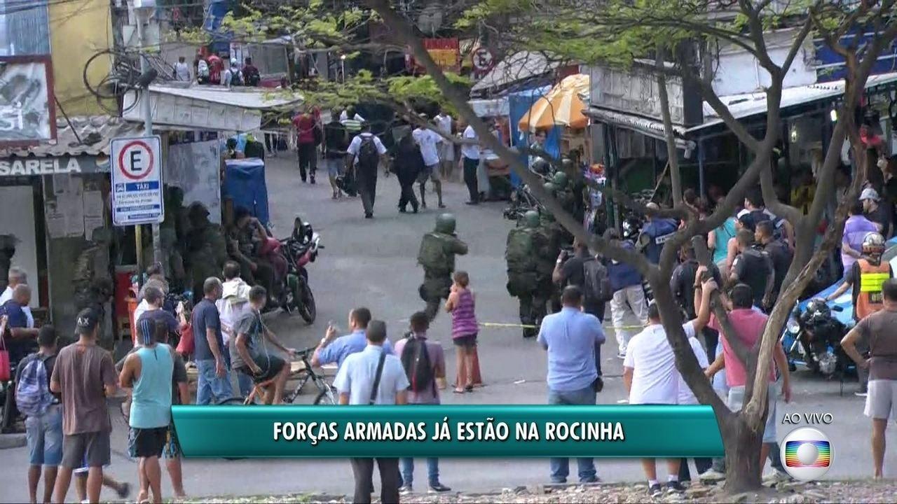 Imagens mostram Tropas Federais entrando na Rocinha