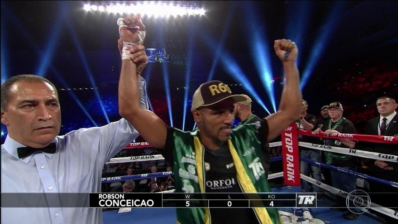 Campeão olímpico de boxe, Robson Conceição vence Carlos Osório e continua invicto