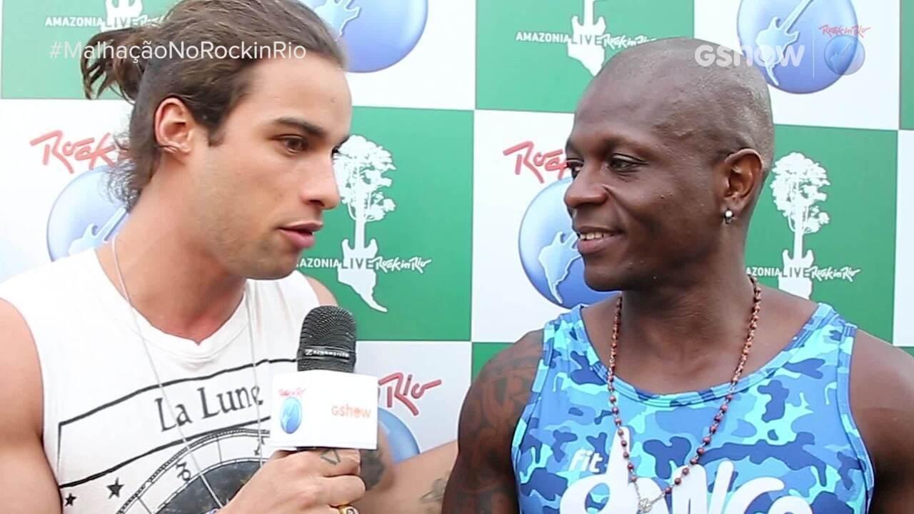 Ana Hikari, Pablo Morais e Lucas Penteado dançam e entrevistam FitDance no Rock in Rio