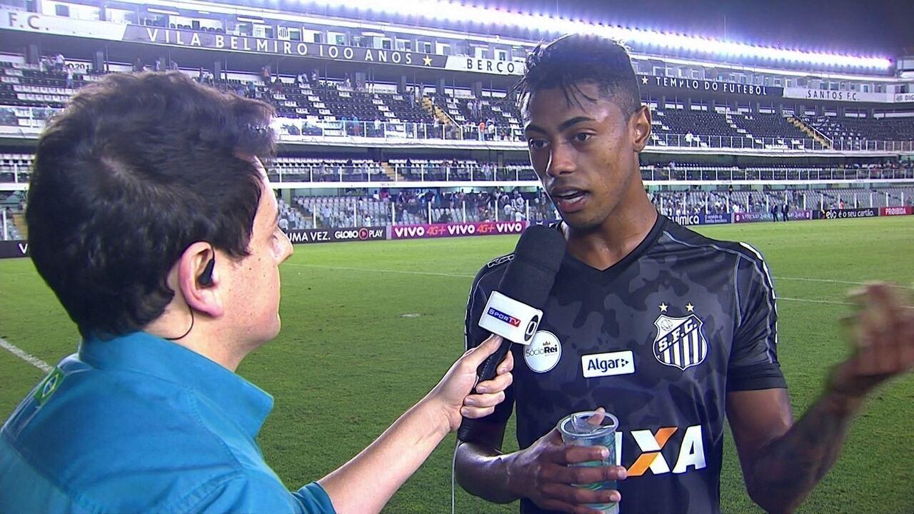 Bruno Henrique comemora gol e desabafa após criticas por cusparada em adversário