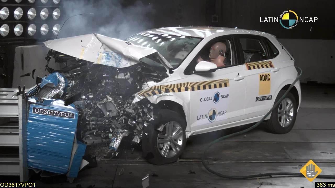 Volkswagen Polo recebe 5 estrelas em teste de colisão do Latin NCap