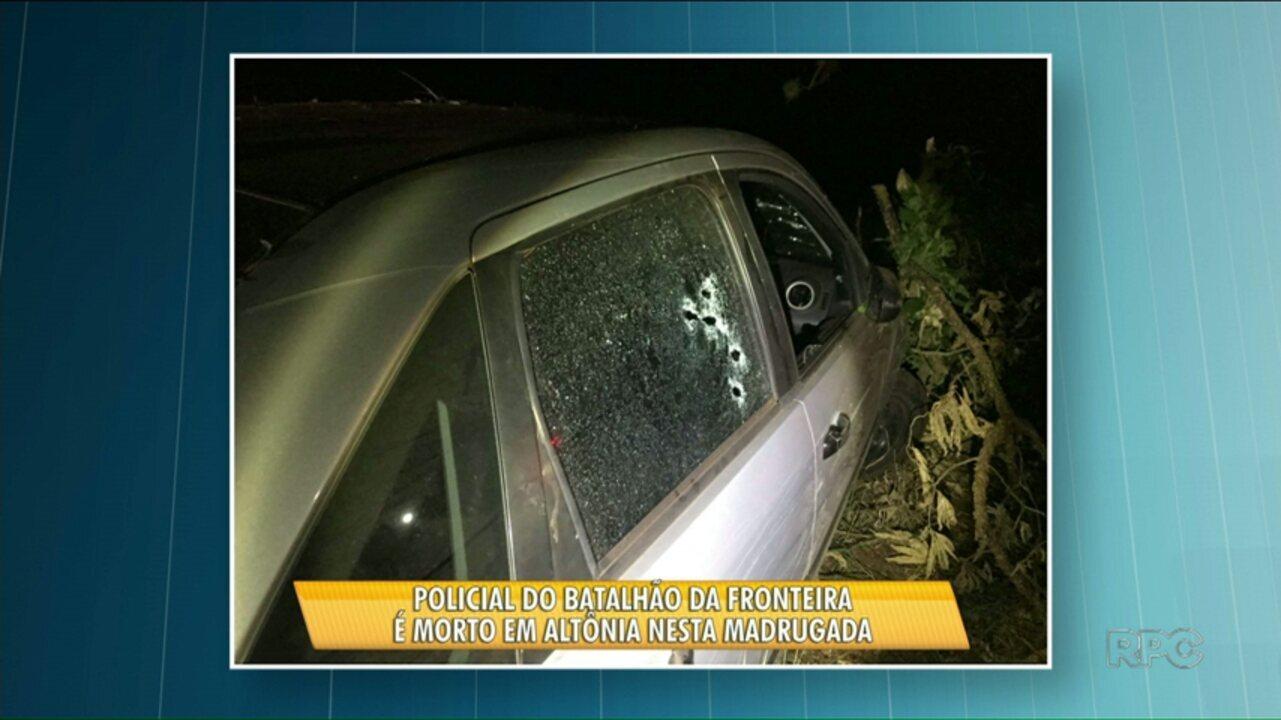 Policial é morto a tiros em Altônia