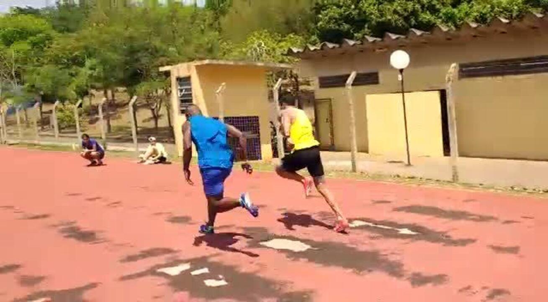 Veja como foi o último treino de Bruno Lins e Luís Gabriel, no vídeo cedido por Sérgio Borges / NoFoco