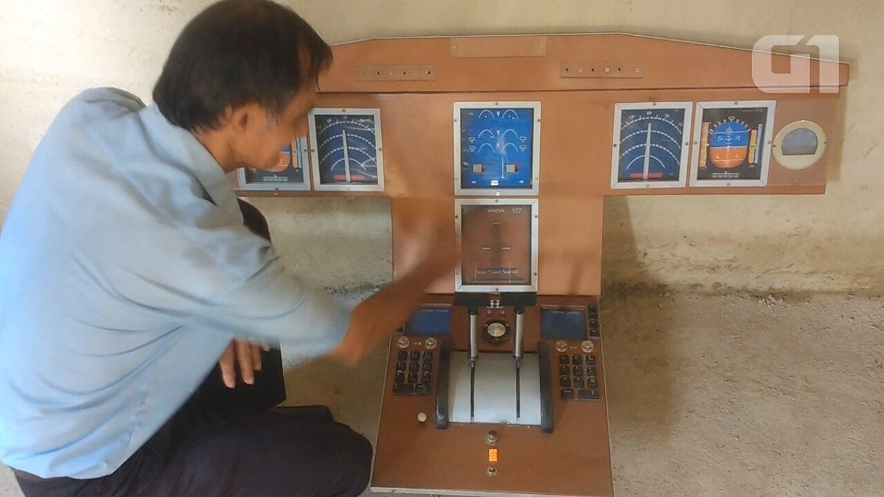 Construtor da casa-avião diz como fez o protótipo do painel que irá estar na cabine