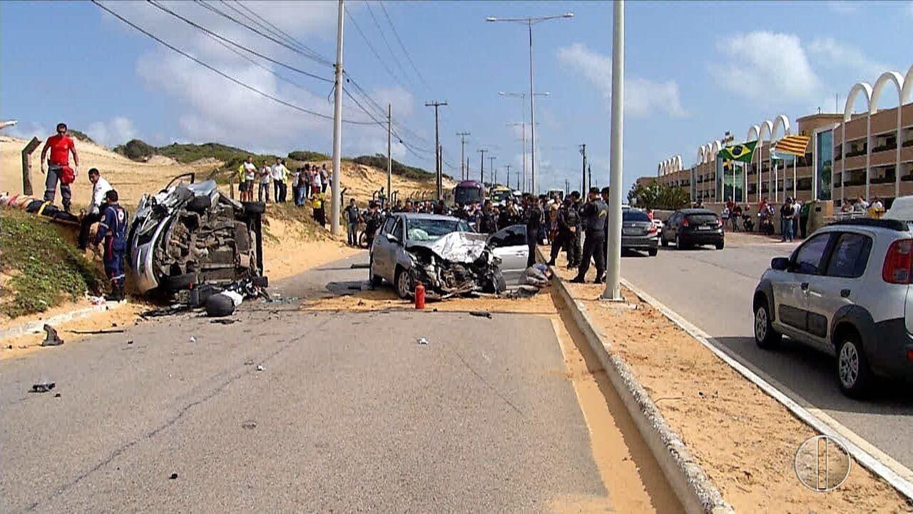 Um morre e quatro são presos durante perseguição policial na Via Costeira, em Natal
