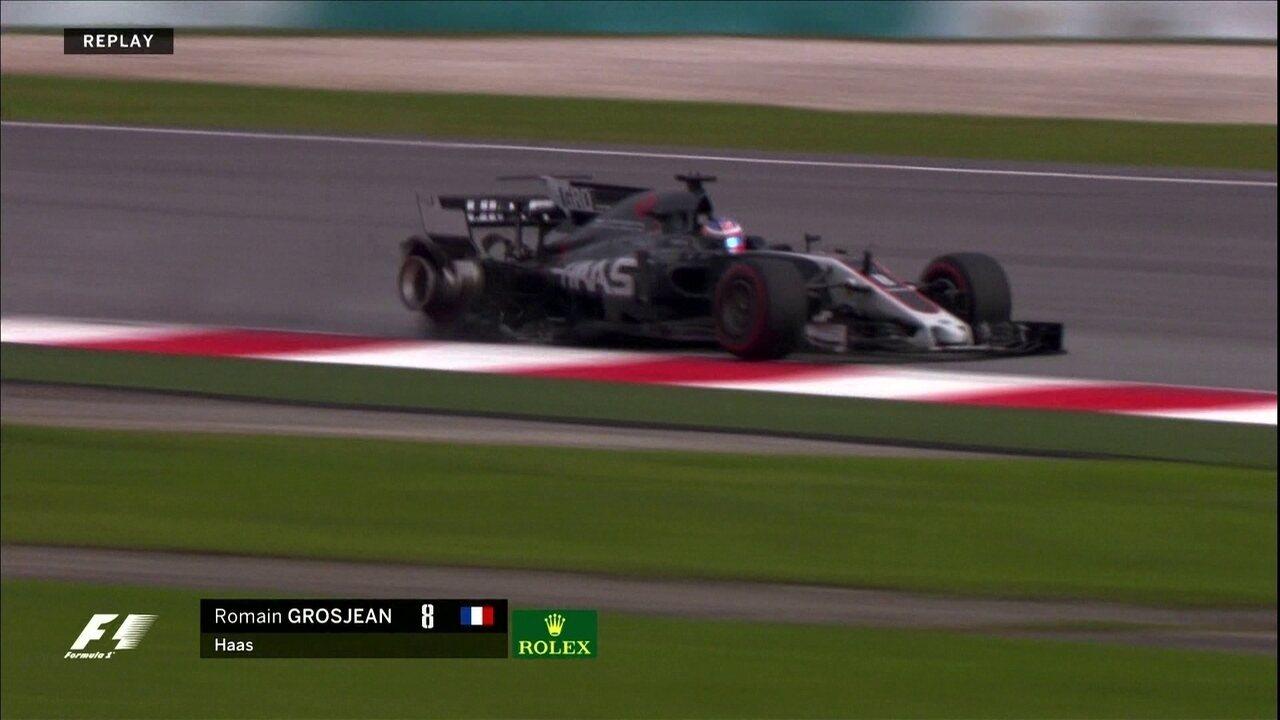 Romain Grosjean sofre acidente no treino para o GP da Malásia de F1