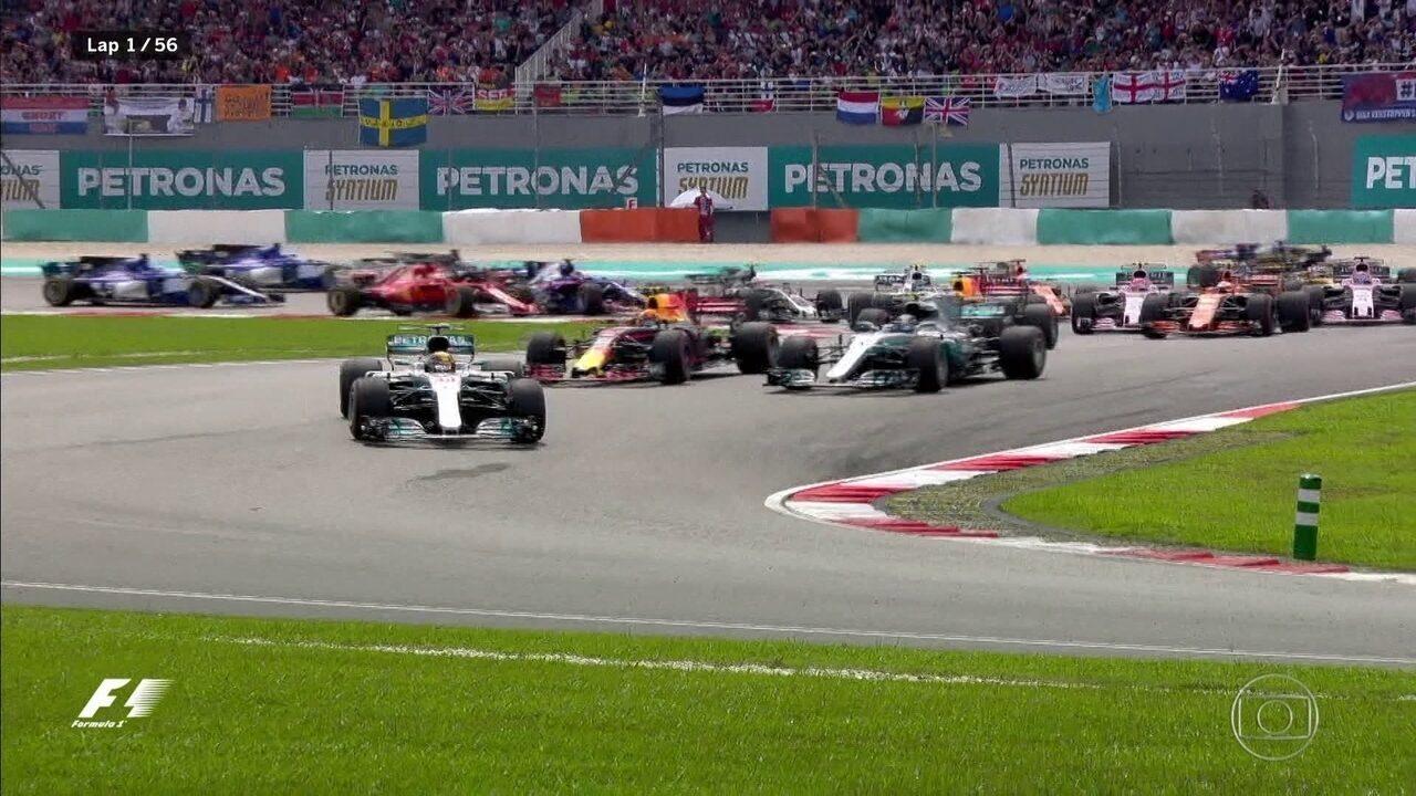Largada do GP da Malásia