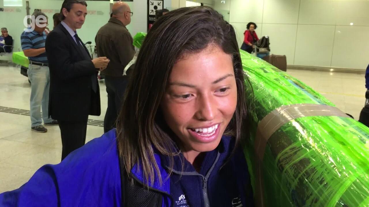 Ana Sátila desembarca no Brasil após medalhas no Mundial de Canoagem Slalom