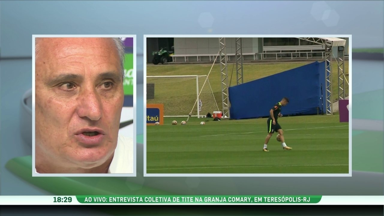 d4dce990de Tite confirma escalação da seleção brasileira para o jogo contra a Bolívia