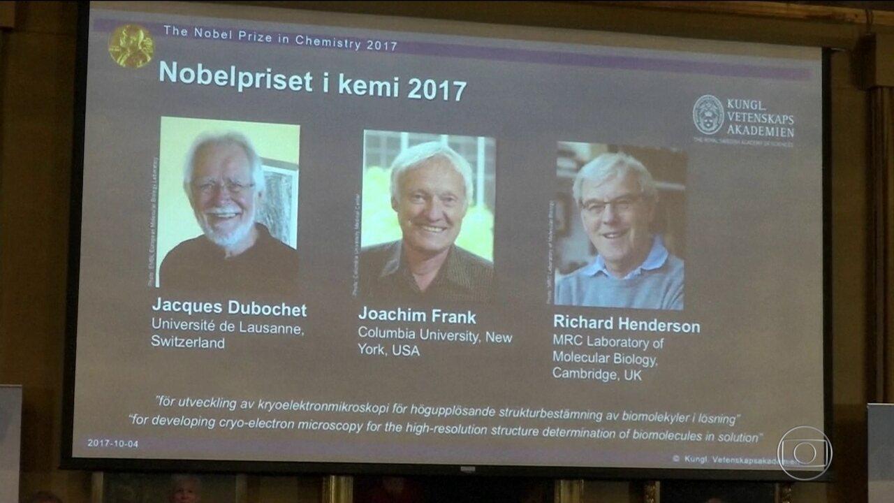 Nobel de Química vai para trio europeu por estudo de moléculas