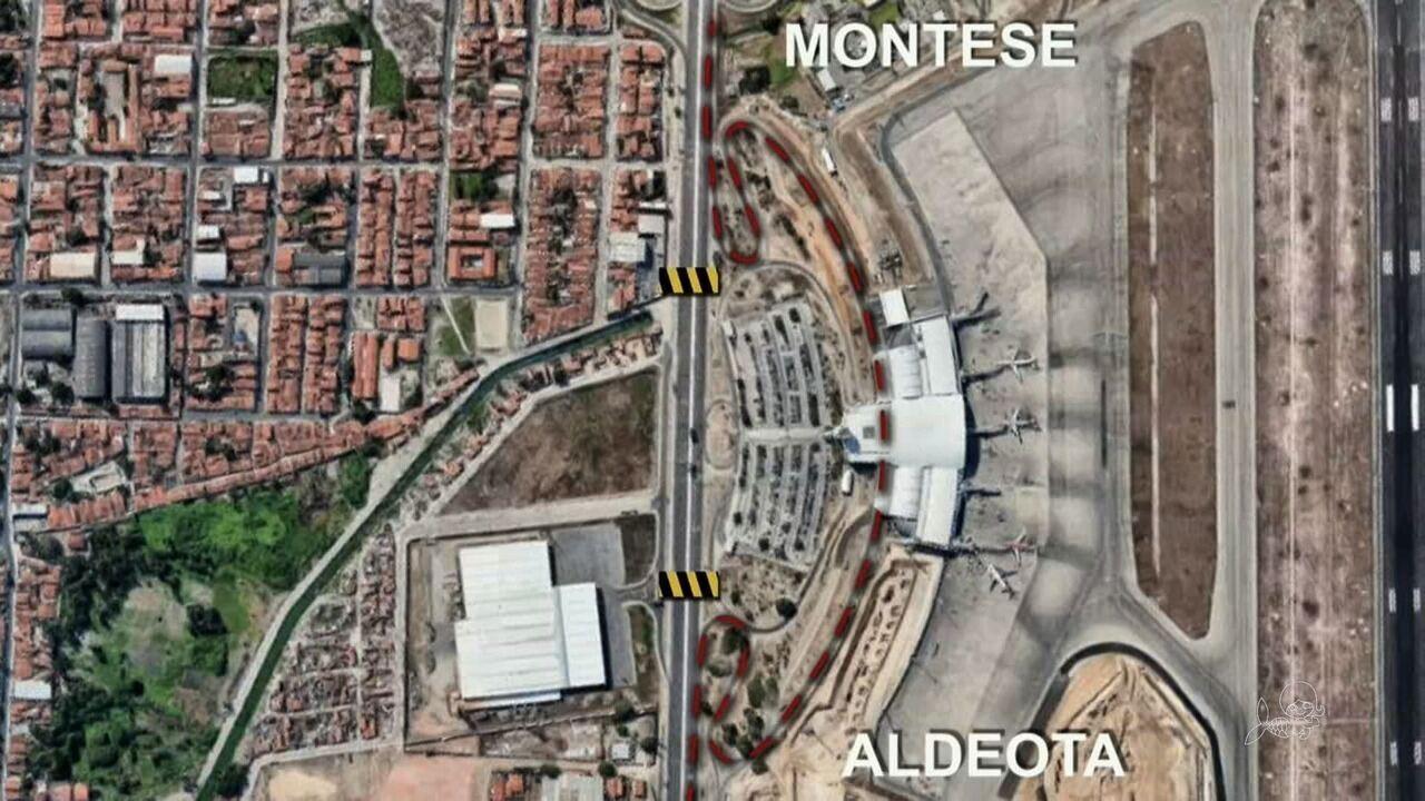 Trecho da Avenida do Aeroporto será bloqueado na noite desta sexta-feira