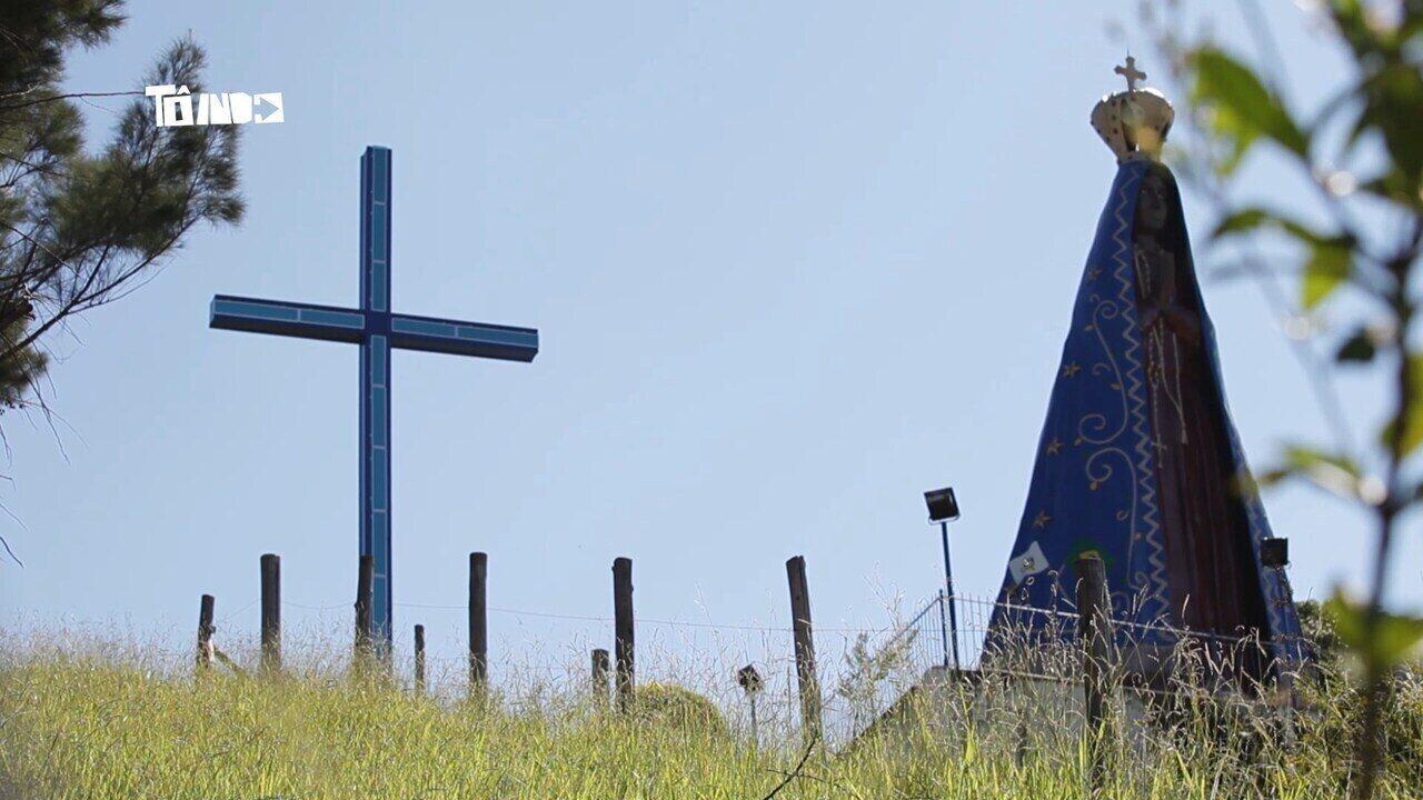 Reveja: Imagem gigante de Nossa Senhora Aparecida é tema do 'Tô Indo'