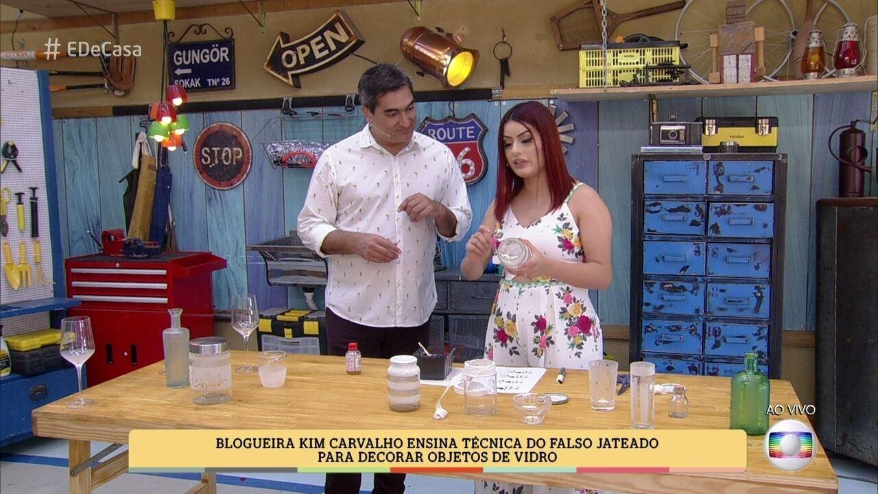 Blogueira Kim Carvalho Ensina T Cnica De Falso Jateado