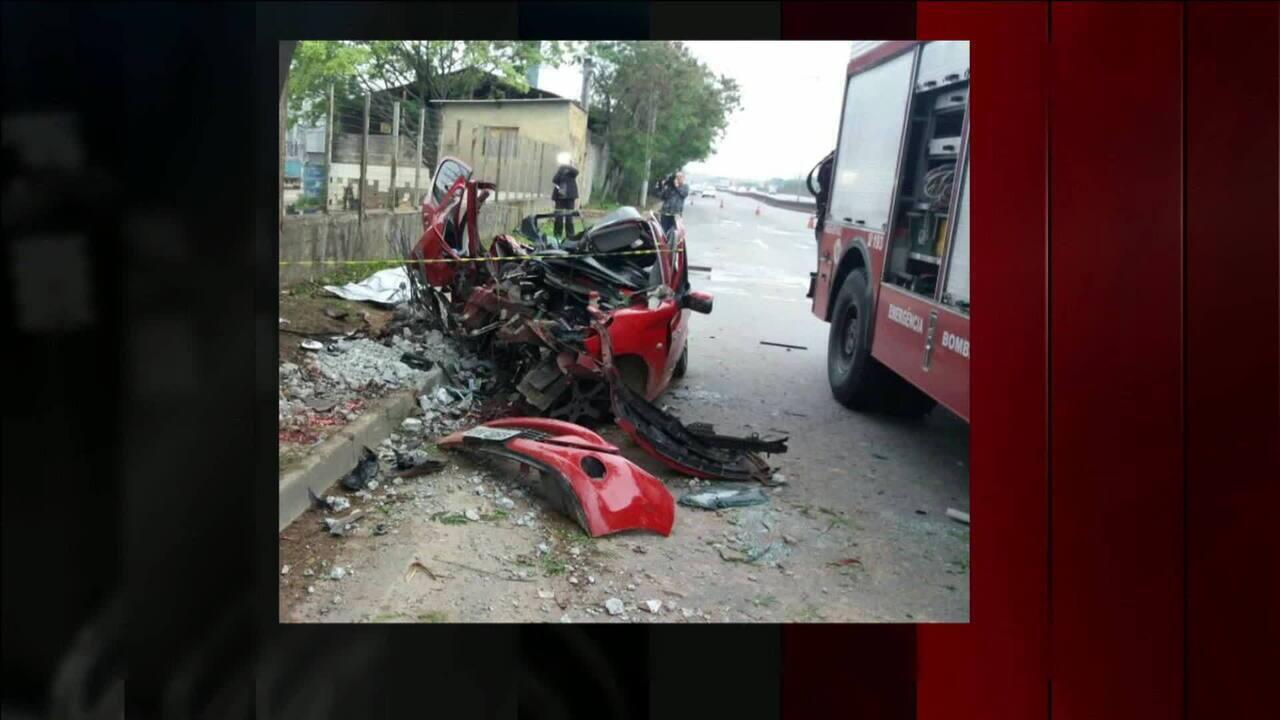 Motorista perde o controle e três morrem em acidente grave na Rodovia Fernão Dias