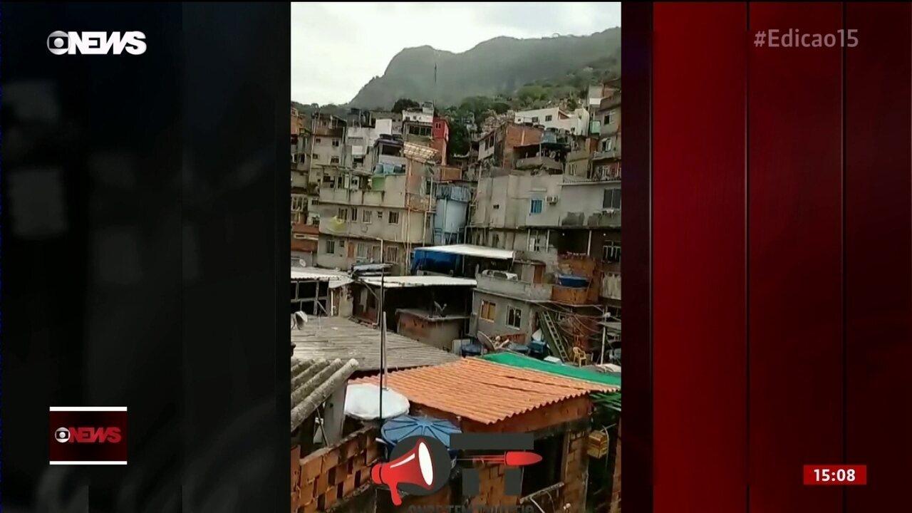 Comunidade da Rocinha (RJ) volta a ter tiroteio neste domingo (8)