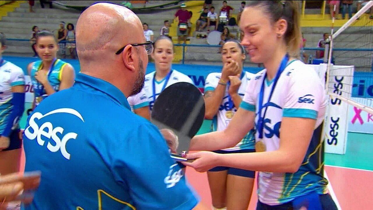 Confira a premiação do Rio de Janeiro, campeão estadual de vôlei feminino