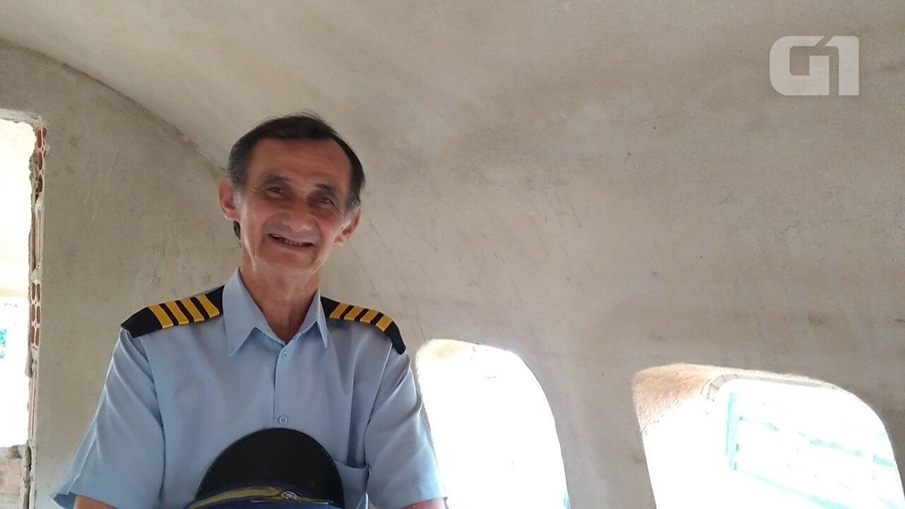 Geraldo conta a experiência de realizar sonho de pilotar avião em simulador