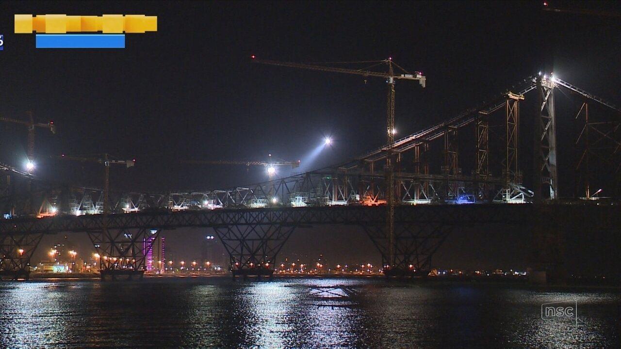 Veja como foi o processo de transferência de carga da Ponte Hercílio Luz