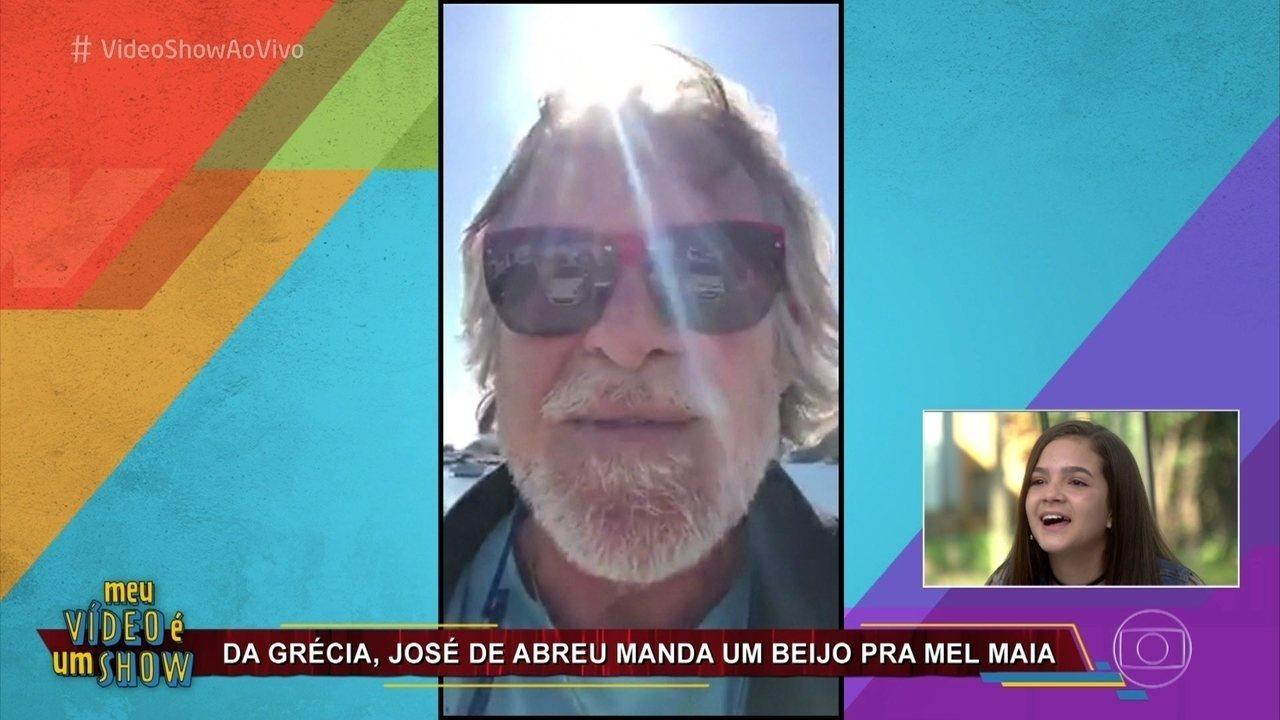 Mel Maia recebe mensagem de José de Abreu