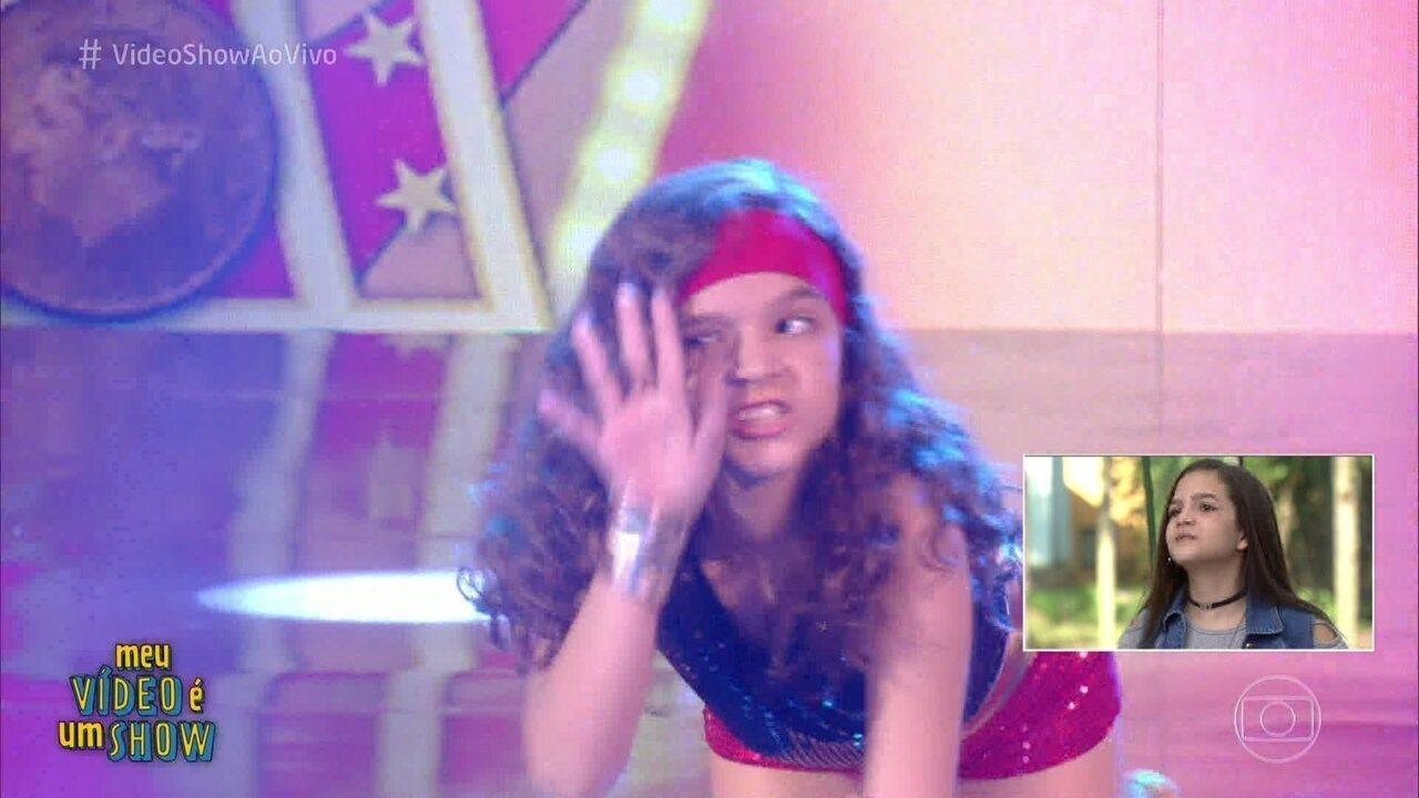 Mel Maia fez a Pequena Miss Sunshine no 'Caldeirão'