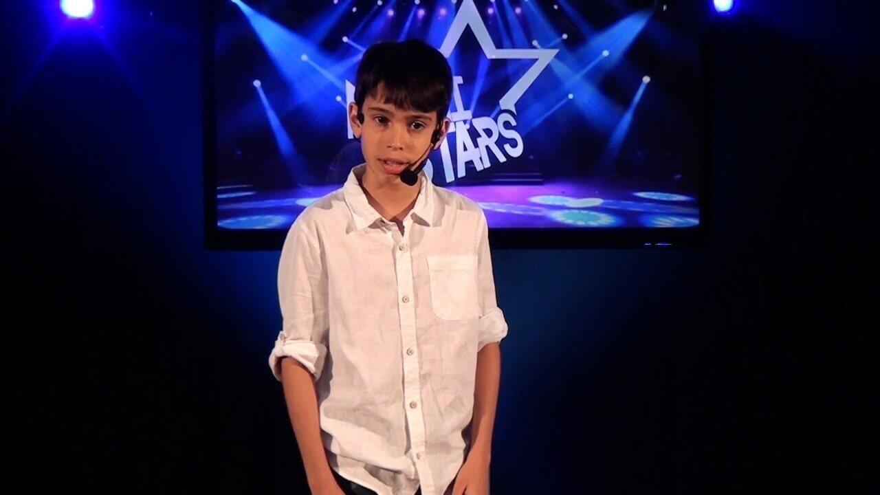 Apresentação de Lucca Santos na terceira fase do Mini Stars