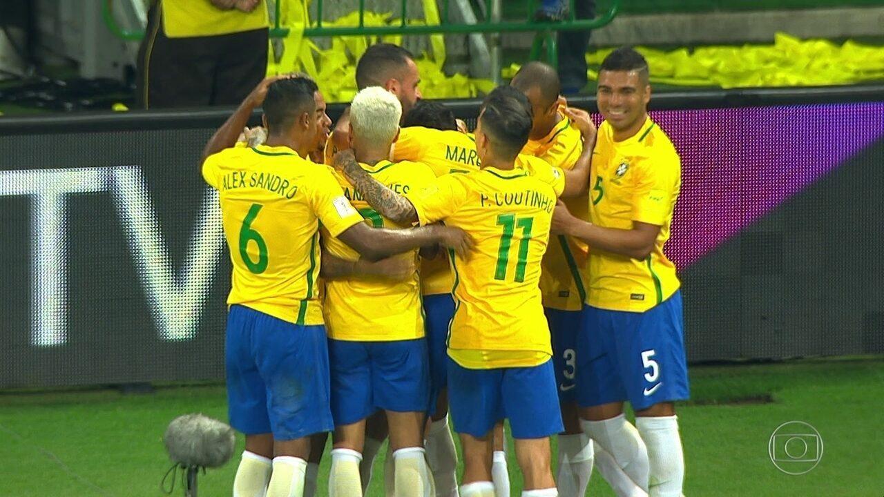 Os gols de Brasil 3 x 0 Chile pelas Eliminatórias da Copa do Mundo 2018