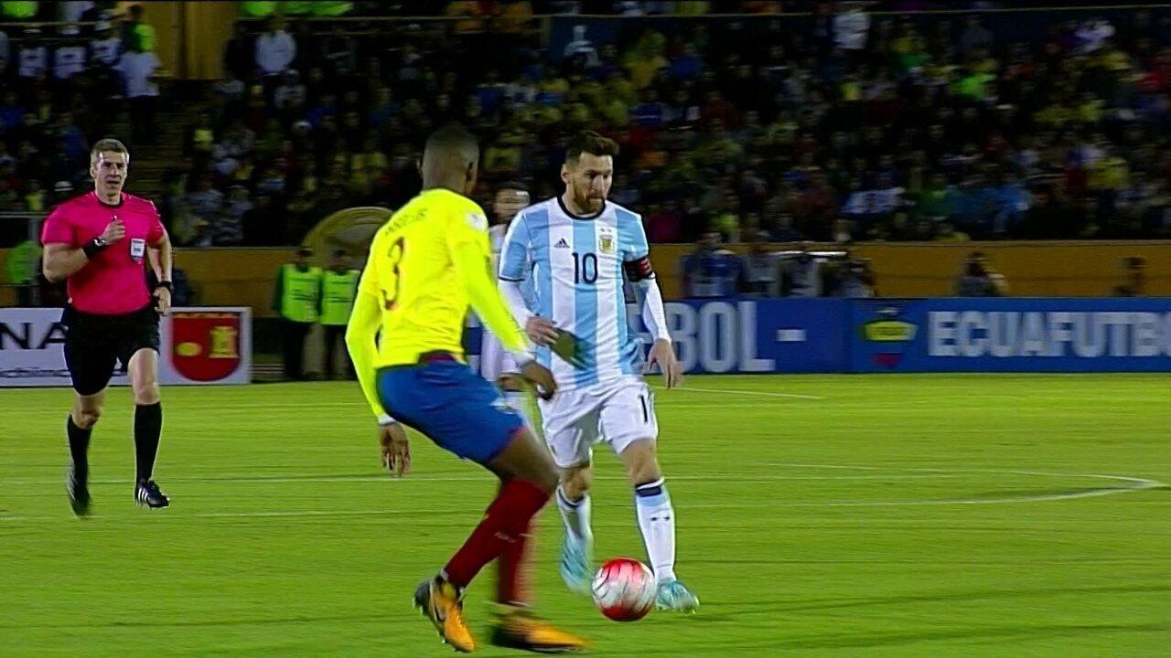 Melhores Momentos de Equador 1 x 3 Argentina pelas Eliminatórias da Copa do  Mundo a1519b186fff3