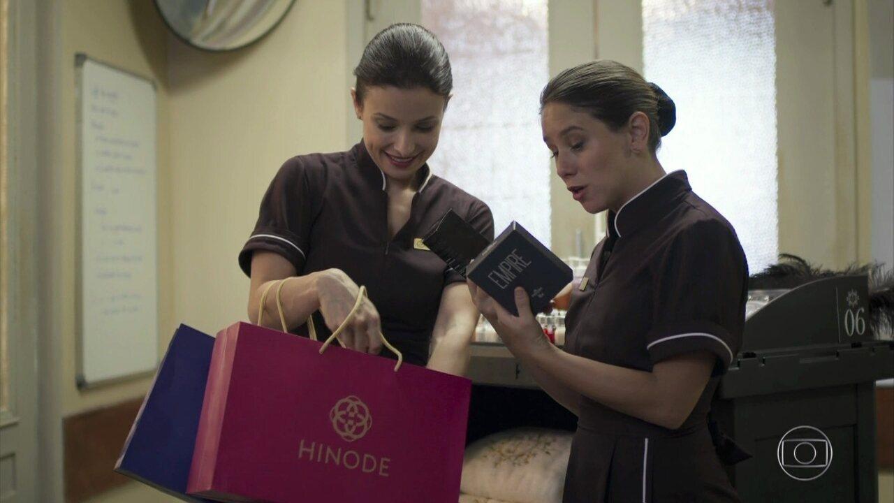 Cíntia arrasa nas vendas como consultora Hinode
