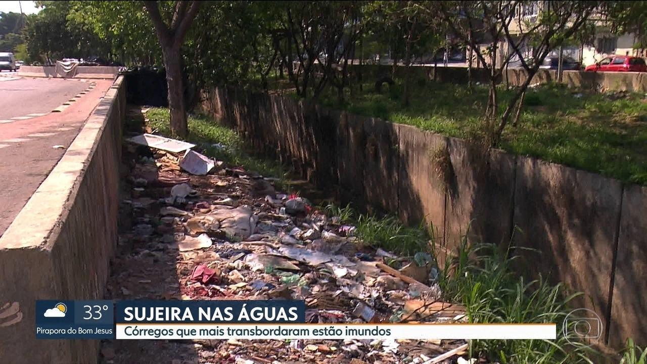 Temporais trazem preocupação com transbordamento de rios e córregos em SP