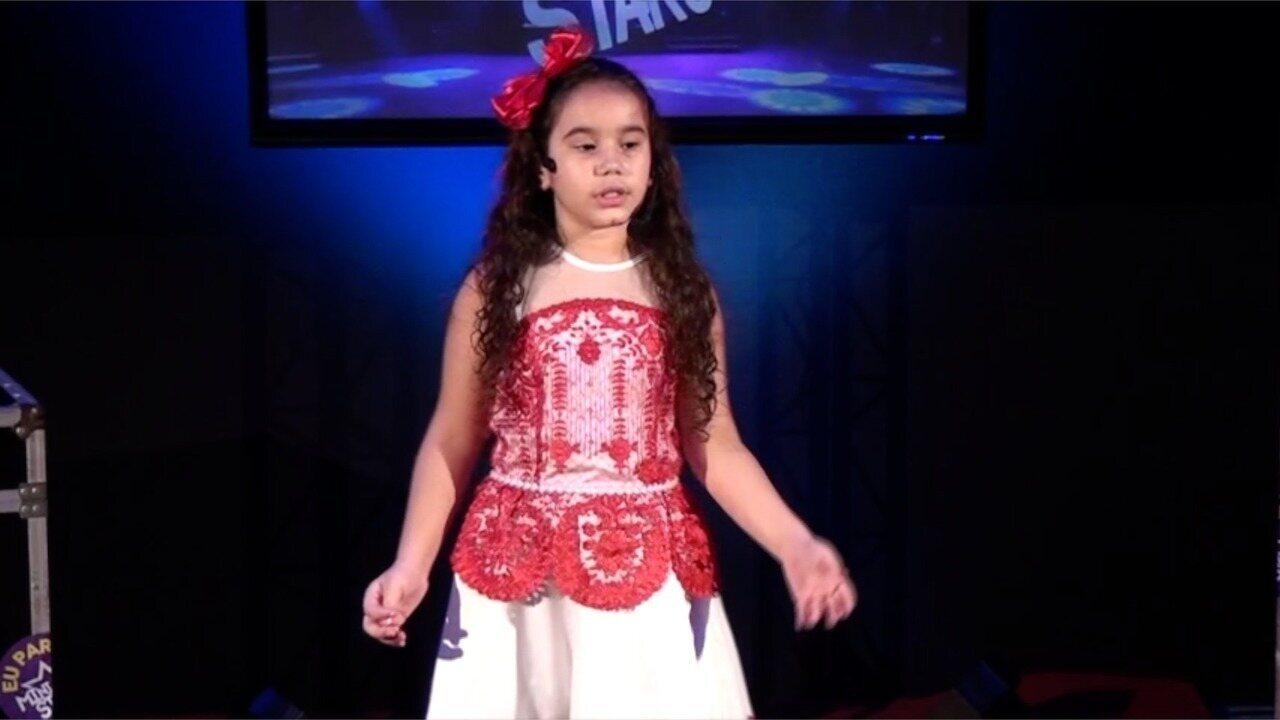 Apresentação de Maria Luiza na terceira fase do Mini Stars