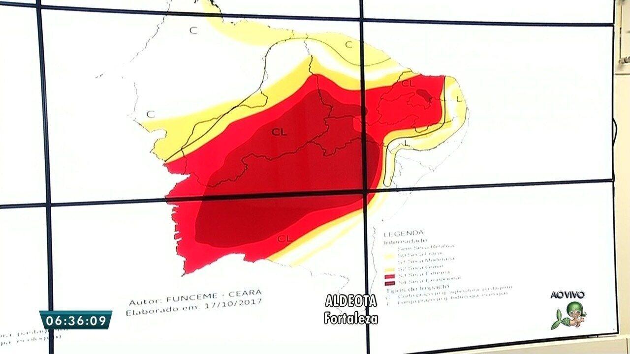 Severidade aumenta e seca passa atingir 100% do território do Ceará