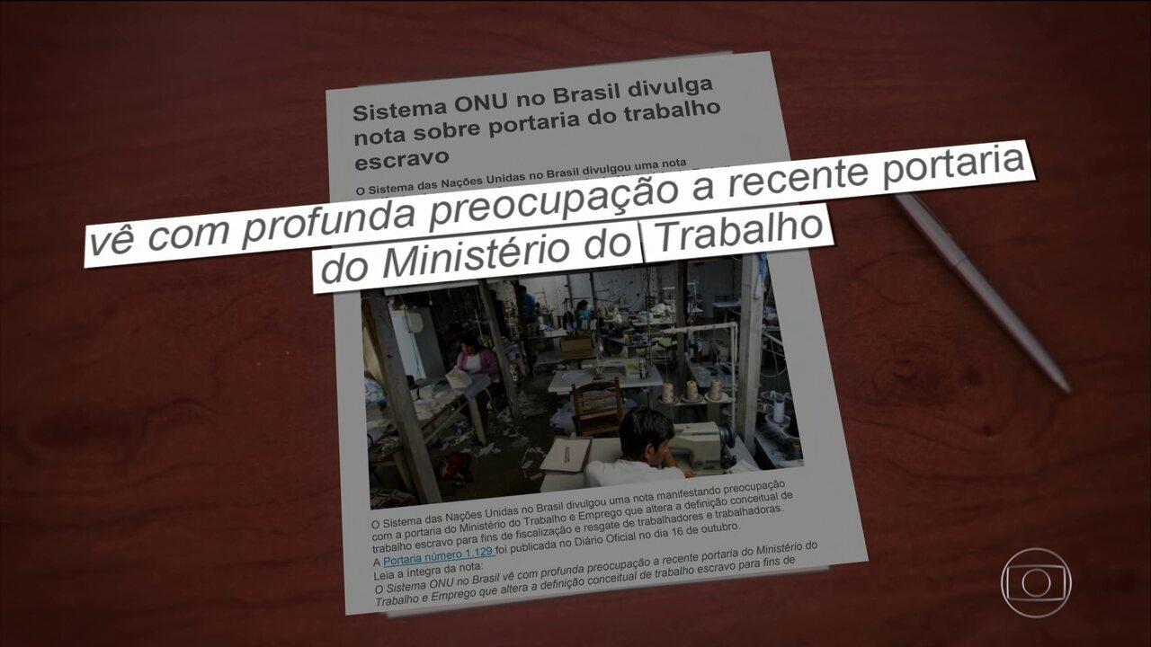 ONU no Brasil condena medida que dificulta combate ao trabalho escravo