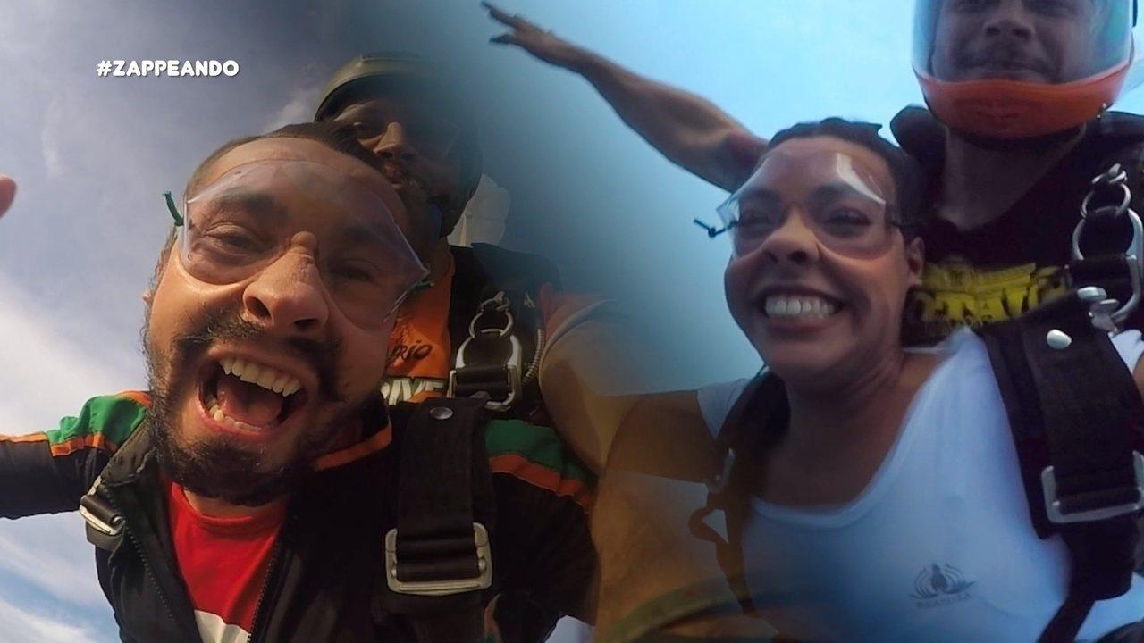Parte 3: Pra fechar, Moa e Isa fazem tour de parequedas pelo céu de Manaus