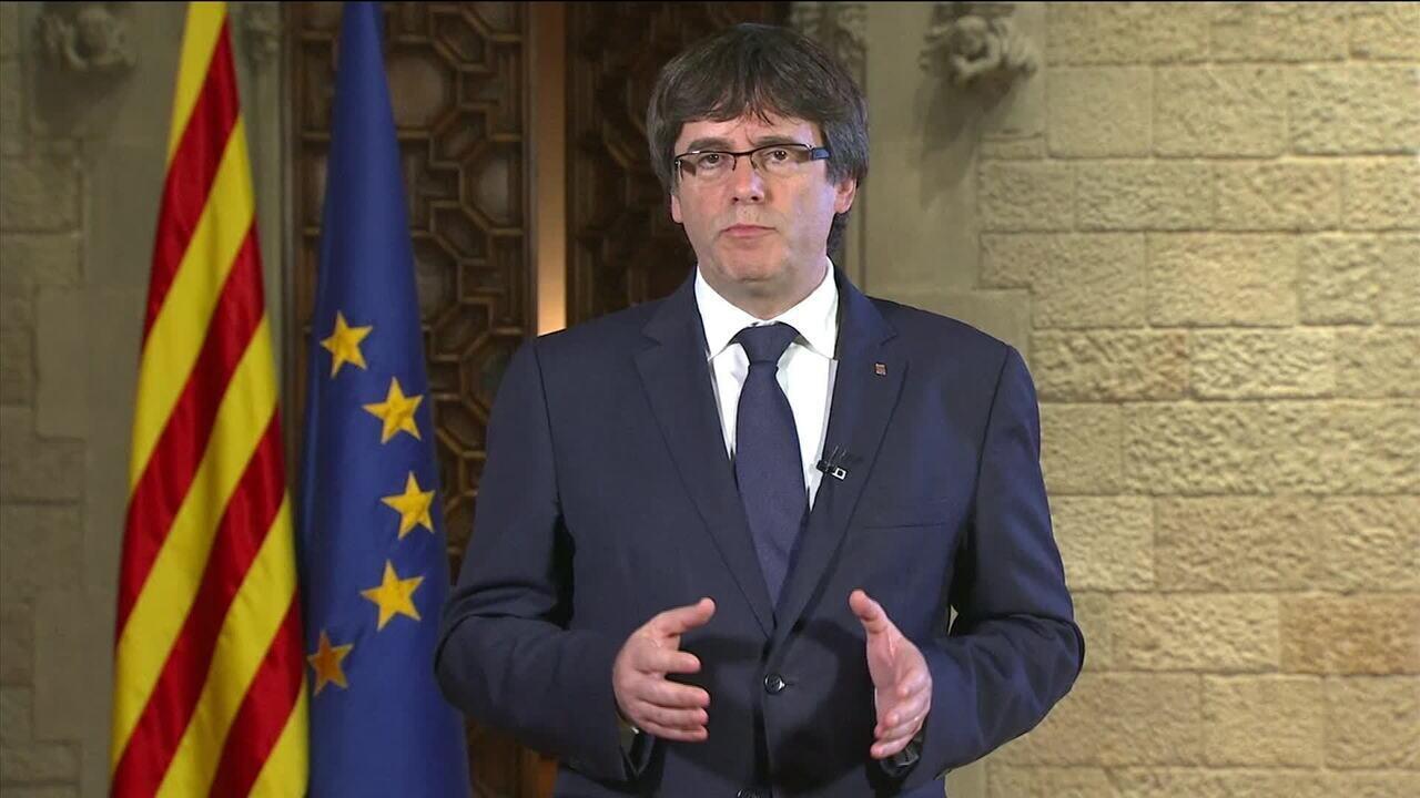 Presidente da Catalunha reage às medidas tomadas contra o governo catalão