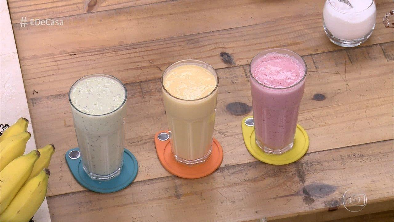 Aprenda a fazer 'Smoothie': vitamina gelada