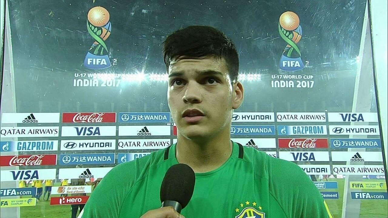 """Brazão festeja conquista do 3º lugar no Mundial Sub-17: """"Muito feliz"""""""