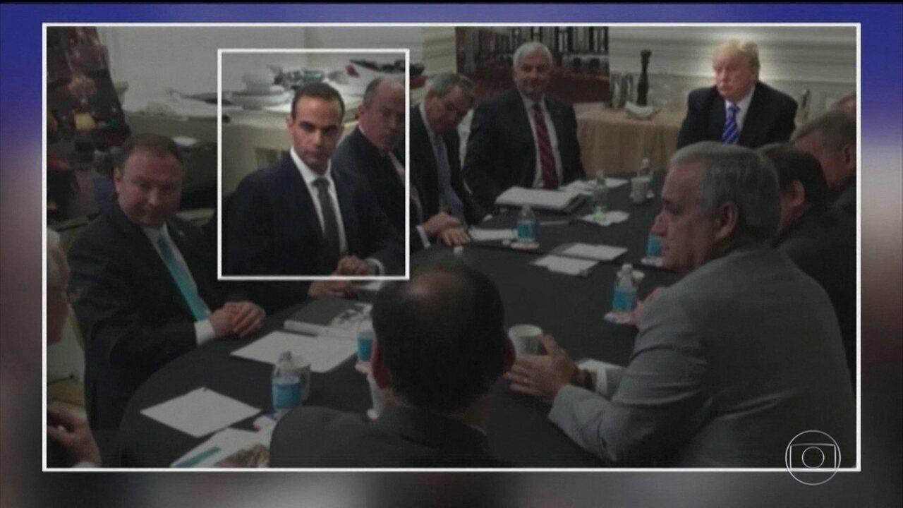 Indiciados 3 assessores de Trump em investigação sobre a eleição presidencial de 2016