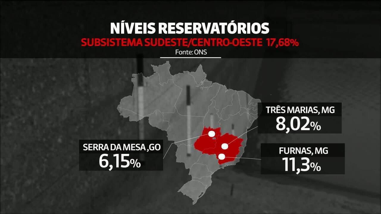 Reservatórios do Sudeste e Centro-Oeste têm nível mais baixo para outubro desde 2000
