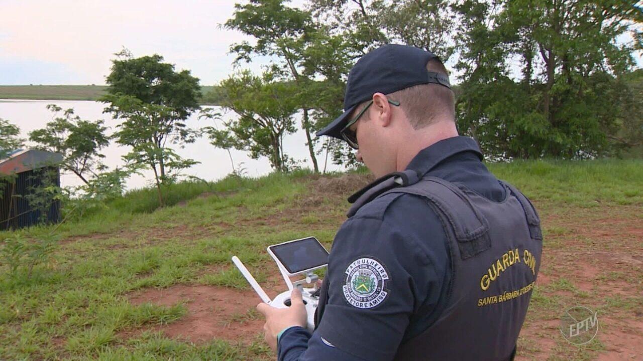 Santa Bárbara d'Oeste utiliza drones para fiscalizar pesca irregular durante a piracema